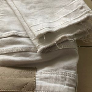 Jeans gently used skinny frayed bottoms